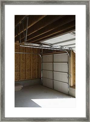 Rolling Garage Doors Framed Print