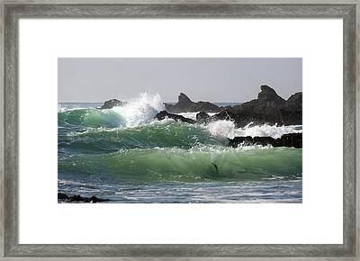 Framed Print featuring the photograph Rolling Green Waves by Michael Rock
