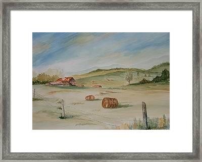 Rolling Hills Framed Print by Heidi Patricio-Nadon