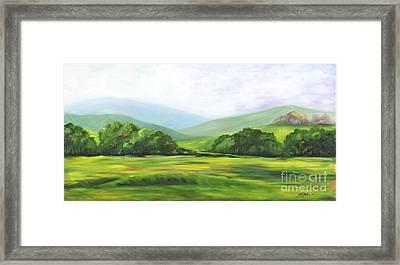 Rolling Hills In Springtime Framed Print