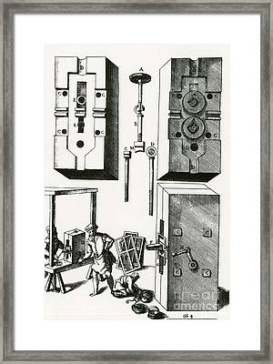 Rolling Mill For Lead Strips Framed Print by Photo Researchers