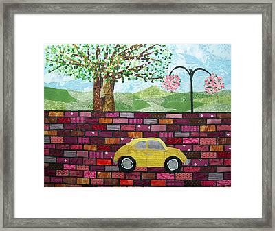 Rolling On The Bricks Framed Print by Charlene White