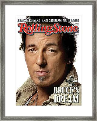 Rolling Stone Cover - Volume #1071 - 2/5/2009 - Bruce Springsteen Framed Print