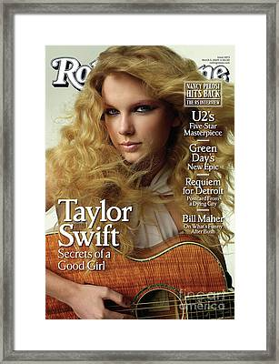 Rolling Stone Cover - Volume #1073 - 3/5/2009 - Taylor Swift Framed Print