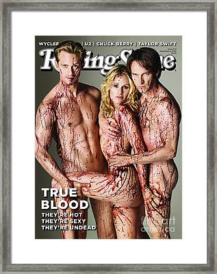 Rolling Stone Cover - Volume #1112 - 9/2/2010 - Cast Of True Blood Framed Print