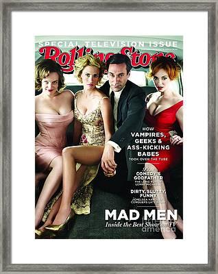 Rolling Stone Cover - Volume #1113 - 9/16/2010 - Cast Of Mad Men Framed Print