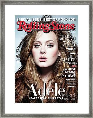 Rolling Stone Cover - Volume #1129 - 4/28/2011 - Adele Framed Print