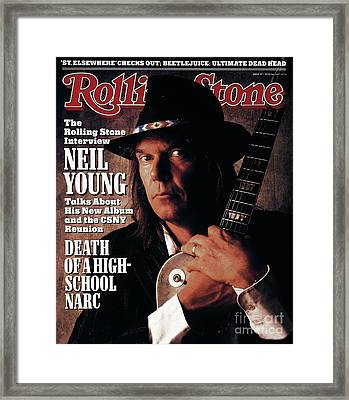 Rolling Stone Cover - Volume #527 - 6/2/1988 - Neil Young  Framed Print