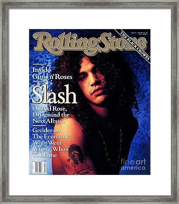 Rolling Stone Cover - Volume #596 - 1/24/1991 - Slash Framed Print