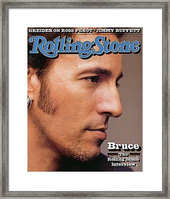 Rolling Stone Cover - Volume #636 - 8/6/1992 - Bruce Springsteen Framed Print