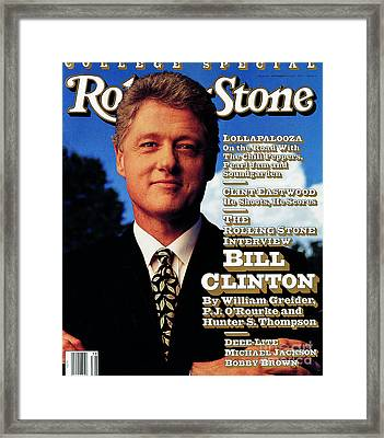 Rolling Stone Cover - Volume #639 - 9/17/1992 - Bill Clinton Framed Print
