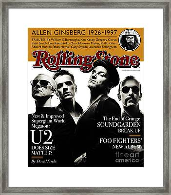 Rolling Stone Cover - Volume #761 - 5/29/1997 - U2 Framed Print