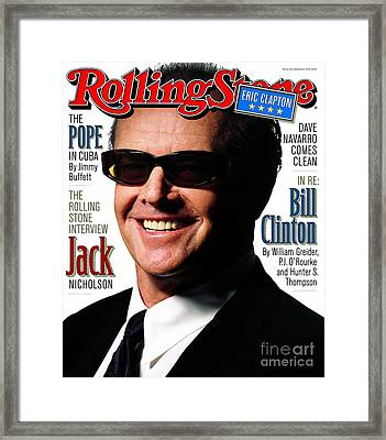 Rolling Stone Cover - Volume #782 - 3/19/1998 - Jack Nicholson Framed Print