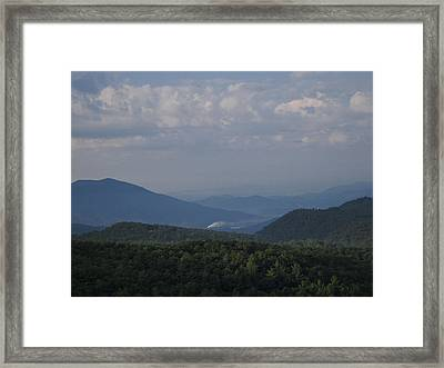 Rolling Through The Blue Ridge Framed Print by Victoria Ashley