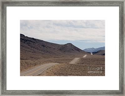 Rolling Two Lane Highway Framed Print by Ei Katsumata