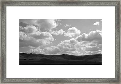 Rolls And Dips Framed Print