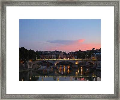 Roma Sunset Framed Print by Tia Anderson-Esguerra