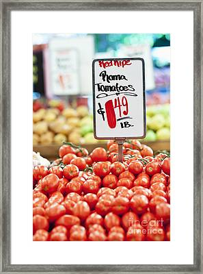 Roma Tomatoes On Sale Framed Print by Jetta Productions, Inc
