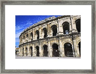 Roman Arena In Nimes France Framed Print