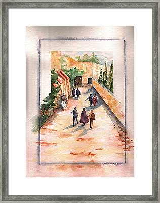 Framed Print featuring the painting Roman Avenue by Sharon Mick