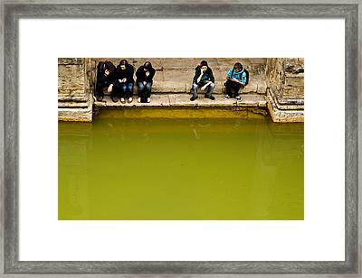 Framed Print featuring the photograph Roman Baths by Justin Albrecht