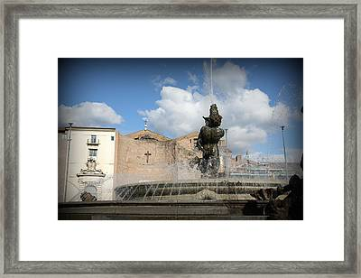 Roman Baths Framed Print by Kevin Flynn