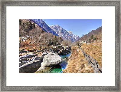Roman Bridge Framed Print by Mats Silvan