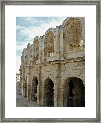 Roman Coliseum In Arles Framed Print by Kirsten Giving