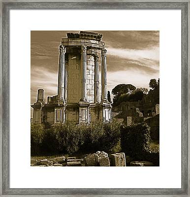 Roman Column Framed Print