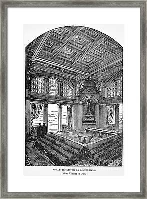 Roman Dining Hall Framed Print