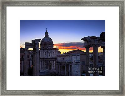Roman Forum At Dawn Framed Print