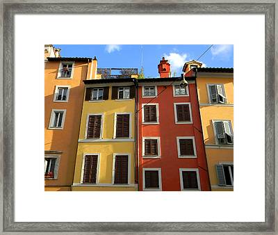 Roman Homes Framed Print by Stellina Giannitsi