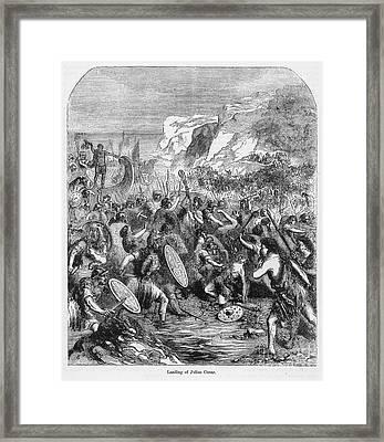 Roman Invasion Of Britain Framed Print by Granger