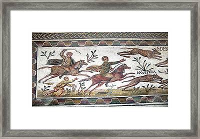Roman Mosaic Framed Print by Sheila Terry