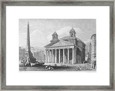 Roman Pantheon, 1833 Framed Print
