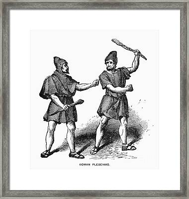 Roman Plebeians Framed Print