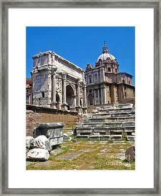 Roman Ruins - Roman Forum Framed Print by Gregory Dyer