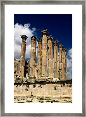 Roman Ruins At Jerash, Jordan Framed Print by Richard Nowitz