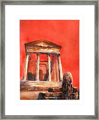 Roman Ruins- Tunisia Framed Print by Ryan Fox