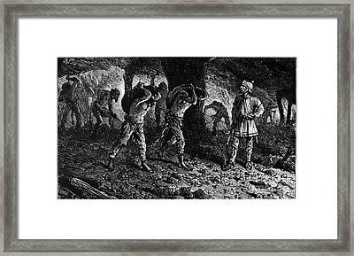 Roman Slavery: Coal Mine Framed Print by Granger