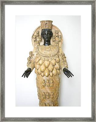Roman Statue Of Artemis Framed Print by Sheila Terry