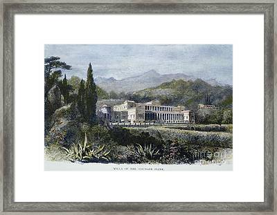Roman Villa Framed Print by Granger