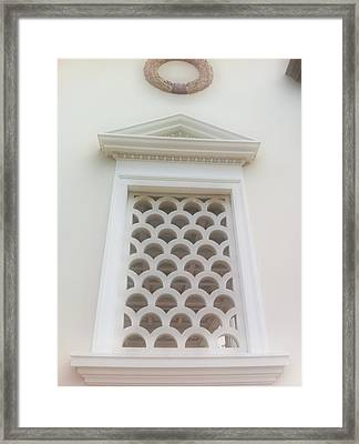 Roman Window Villa Framed Print by Paul Washington