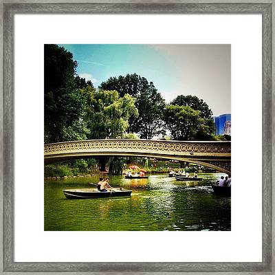Romance - Central Park - New York City Framed Print