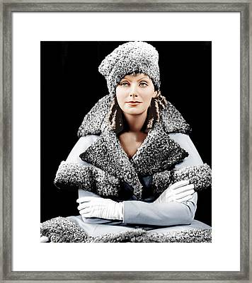 Romance, Greta Garbo, Portrait Framed Print by Everett
