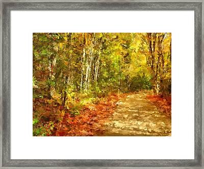 Romance In Autumn Framed Print by Georgiana Romanovna