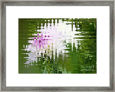 Romance In Paris - Abstract Art Framed Print
