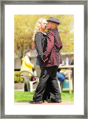 Framed Print featuring the photograph Romance In The Air by Jack Moskovita