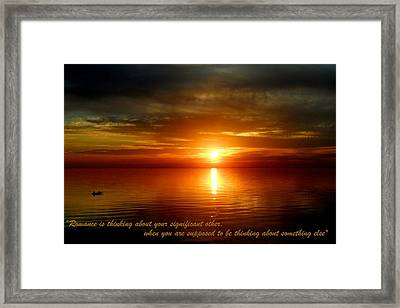 Romance Is In The Air Framed Print by Cyryn Fyrcyd