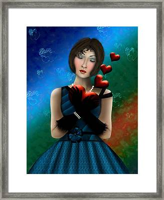 Framed Print featuring the digital art Romance by Katy Breen
